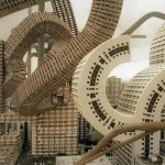 'Spatial Bodies' morphs the Osaka cityscape into twisting organic forms