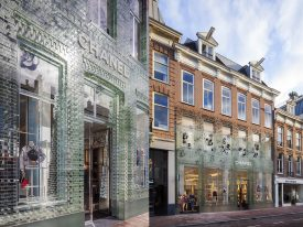 Crystal Houses: the storefront in Amsterdam made entirely of glass