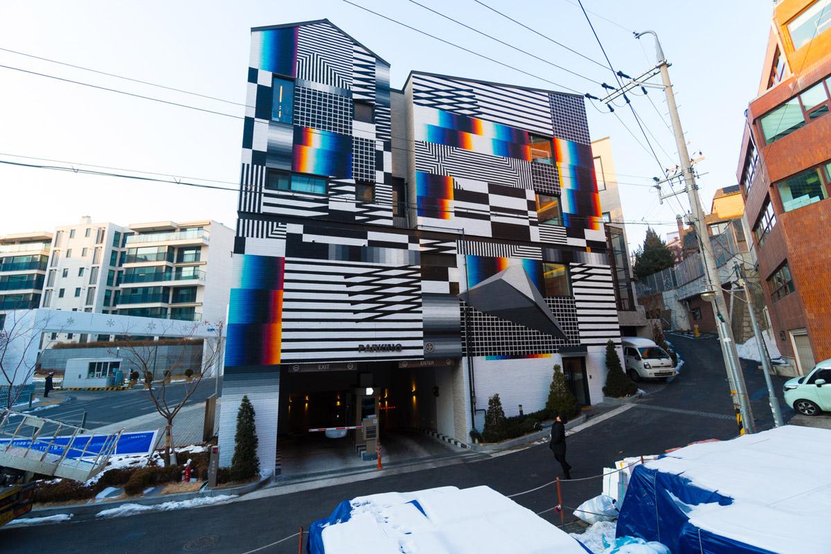 Felipe Pantone's high impact glitch murals