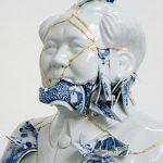Beautiful porcelain sculptures created with broken ceramics