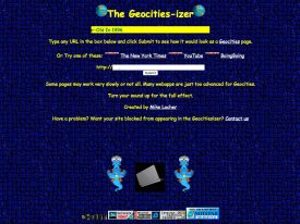 Make the web worse with the Geocities-izer
