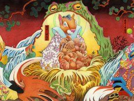 Moira Hahn's Edo-esque anthropomorphic watercolors
